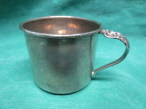 Small Vtg Sterling Silver Cup Or Mug