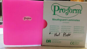 dental Lab Pro form Vacuum Forming Laminate Material Hot Pink Mouth Guard 12