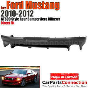 For Ford Mustang 2010 2012 Gt500 Rear Bumper Diffuser Black Molding Trim Lip