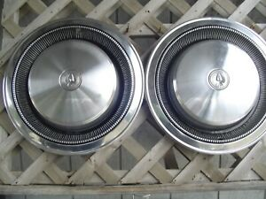 Two 70 71 72 73 74 75 Chrysler Imperial Vintage Hubcaps Wheel Covers Center Caps
