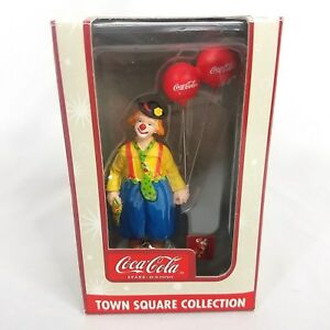 Coca Cola Coke Town Square Collection Holiday Decoration Clown 2003 NIB