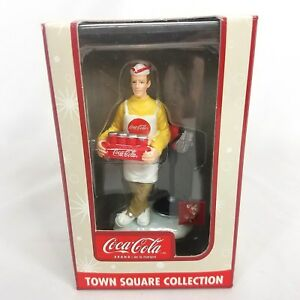 Coca Cola Coke Town Square Collection Holiday Decoration Car Hop 2003 NIB