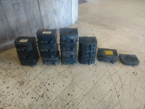 Lot Of 16 Square D 2 Pole Breakers 15 20 30 40 60 100 Amp