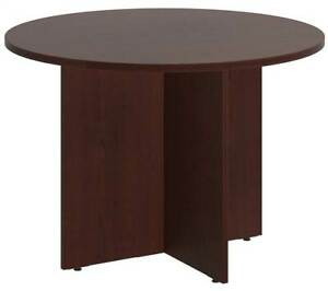 Round Conference Table In Harvest Cherry id 3759086