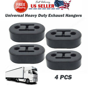 4 Car Polyurethane Rubber Exhaust Tail Pipe Mount Bracket Hanger Insulator Black