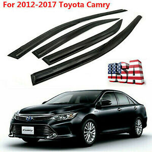 Window Visors Rain Guard Vent Sun Shade Deflector 4x For 2012 2017 Toyota Camry