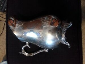 Vintage Wm Rogers Silverplate Water Pitcher Jug Heavy Dining