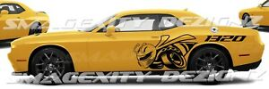 Reflective Driver Side 1320 Scat Pack Bee Challenger Drag Graphic Decal Vinyl Rt