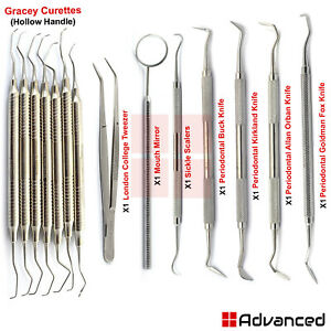 Periodontal Surgery Instruments Gracey Curettes Gingivectomy Knifes Scalers Lab