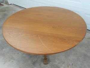 Round Solid Oak Table Top Only 60 Salvage