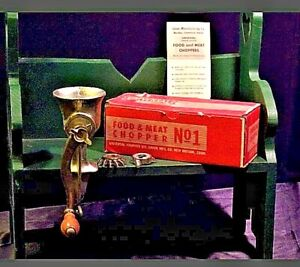 Antique Universal No 1 Food And Meat Grinder Aa19 1390
