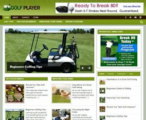 Golf Wp Wordpress Blog New Established Profitable Turnkey Website For Sale