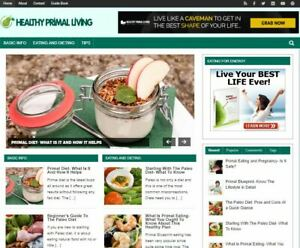Healthy Primal Living Blog New Established Profitable Turnkey Website For Sale