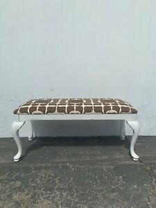 Bench Bed Vintage Seating White Wood Seating Hollywood Regency French Provincial
