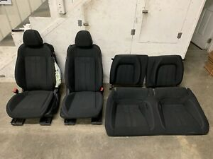 2018 2019 Ford Mustang Gt Black Cloth Front Rear Seats Power Oem