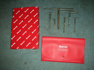 Used Starrett S579hz Telescoping Gage Set In New Case box 6 Pcs Good Used