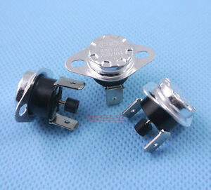 50pcs Manual Reset Temperature Switch 110 c Nc Bimetal Disc Thermostat Ksd301