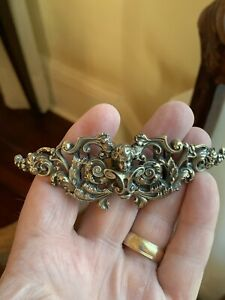 Large Rare Art Nouveau Gilt Sterling Silver Buckle Kerr