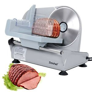 Ham Slicing Machine Deli Slicer Electric Meat Food Bread Cooks Cheese Commercial