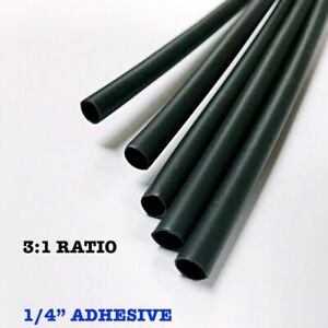 400 6 Pieces 1 4 6 4mm Black 3 1 Heat Shrink Tubing Adhesive Lined Dual Wall