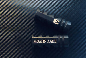 .308 300 Blackout Engraved Aggressive Muzzle Brake 5 8x24 Pitch Molon Labe $25.95