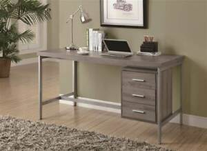 Metal Office Desk In Dark Taupe id 3182233