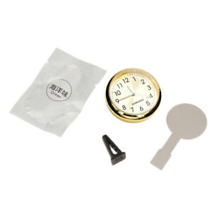 Golden Mini Car Digital Clock Auto Watch Automotive Decoration Clock In Car