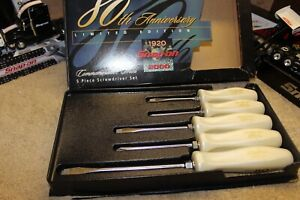 Rare Snap On Pearl White Handle 80th Annivrsary Limited Edition Sddx50anv80x