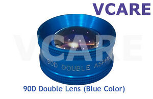 90d Double Aspheric Lens 90d Ophthalmic Diagnostic Lens Indian blue Color