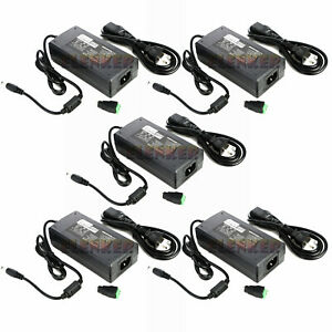 5x Ac100v 240v To Dc 12v 8a Switching Power Supply Adapter For Led Strip Light