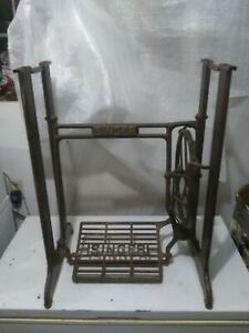 Vintage Cast Iron Metal Singer Treadle Sewing Machine Base Table Legs Stand