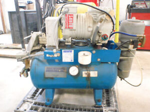 Turbine Industries Inc Dental Air Compressor 1 Hp Na04b 12g Exam Works