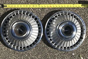2 Vintage 1963 64 Chevrolet 14 Hubcaps Impala Corvair Pre Owned Garage Find