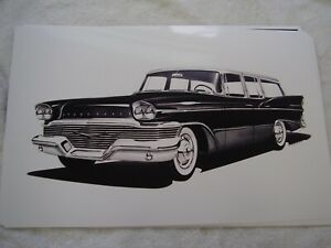1958 Studebaker Commander Station Wagon 11 X 17 Photo Picture