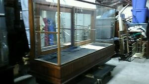 Vintage Oak Glass Showcase No Shipping 61 Long 19 Wide 34 High