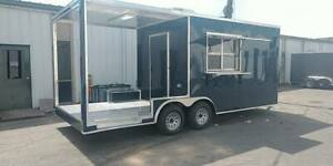 8 5 X 20 Enclosed Concession Stand Food Vending Bbq Porch Trailer Pickup Today