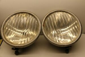 Pair Of Genuine Ford Fluted 1928 1929 Model A Head Lamps Head Lights Headlights