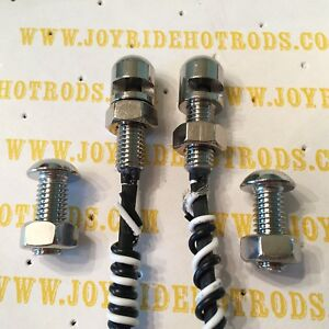 Hot Rod License Plate Light Bolts Led S S