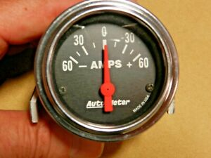 Auto Meter 2586 Amps Traditional Chrome Electrical Ammeter Gauge 2 1 16 Dia