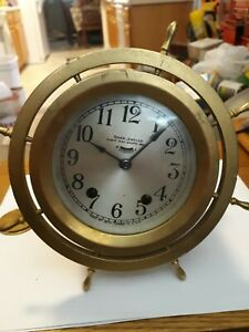 Vintage Seth Thomas Ship Clock Pat Cct 25 1921