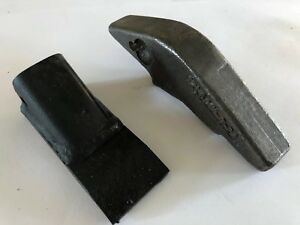 Lot Of 5 Fabco 2a Bucket Teeth And 5 Weld On Shanks