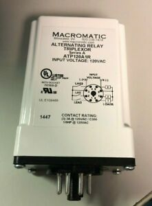 Alternating Relay spdt 120vac 3a 8 Pin Macromatic Atp120a1r