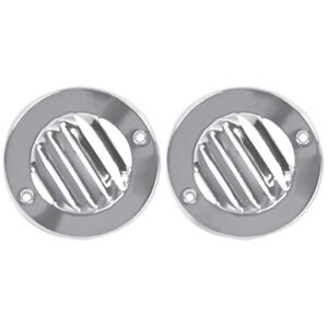 1961 1966 Ford Pickup Truck Defrost Round Louver Vent Pair Chrome Dynacorn 3215