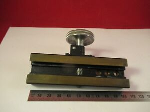 Leitz Germany Pol Stage Micrometer Microscope Part As Pictured ft 4 78