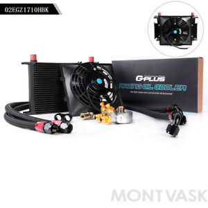 Gplus 25 Row An10 Thermostat Adaptor Engine Oil Cooler Kit 2 Oil Lines Fan