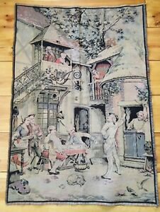 1920 S Vintage Tapestry Made In France Victorian Style Cafe