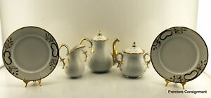 Antique 1800 S Gold Trimmed Coffee Or Tea Set
