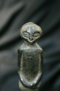 Old African Tribal Stopper Statue Chokwe Congo