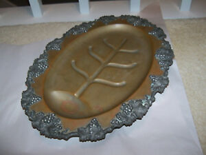 Vintage Sheffield Silverplate George Iii Meat Platter Footed Oval Tray 17 Epns