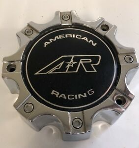 One Used American Racing Chrome Black Center Cap M 564 Wheel Center Cap 2285